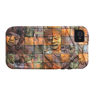 Doi Inthanon Chedi Carved Tiles 2 Case-Mate iPhone 4 Cases