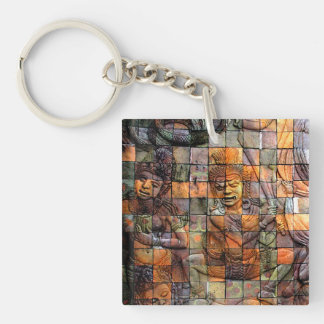 Doi Inthanon Chedi Carved Tiles 2 Keychain