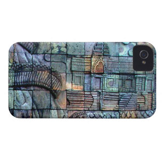 Doi Inthanon Chedi Carved Tiles iPhone 4 Case-Mate Case