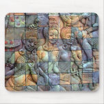 Doi Inthanon Chedi Carved Tiles Mouse Pad