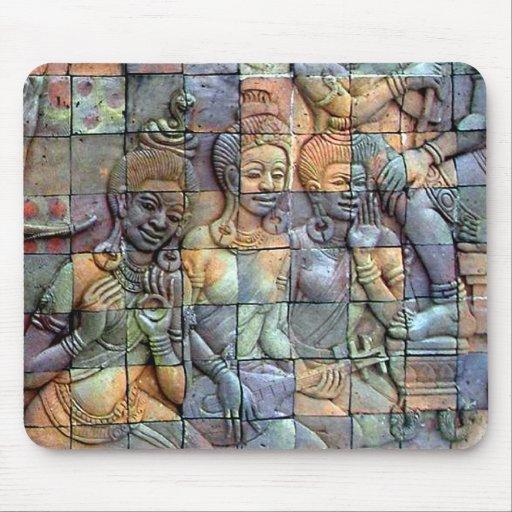 Doi Inthanon Chedi Carved Tiles Mousepad
