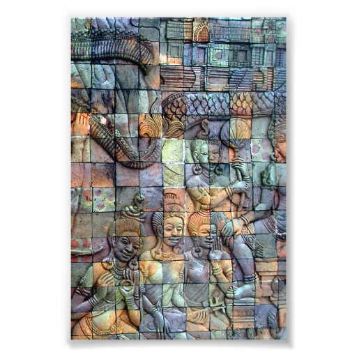 Doi Inthanon Chedi Carved Tiles Photographic Print