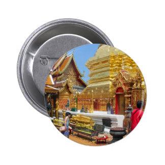 Doi Suthep Buddhist Temple Pinback Button