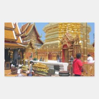 Doi Suthep Buddhist Temple Rectangular Sticker