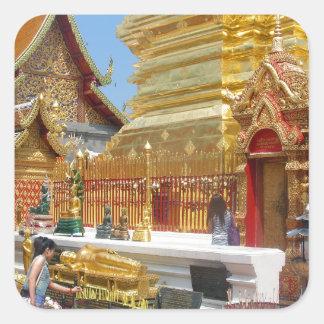 Doi Suthep Buddhist Temple Square Sticker