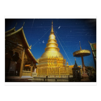 doi suthep temple at chiangmai postcard