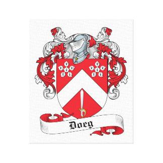 Doige Family Crest Stretched Canvas Prints
