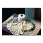 Doily and Crochet Thread Greeting Card