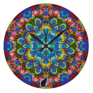 Doily Kaleidoscope Large Clock