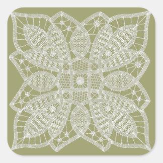 Doily Lace Square Sticker