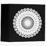 Doily. White lace circle image. Binder