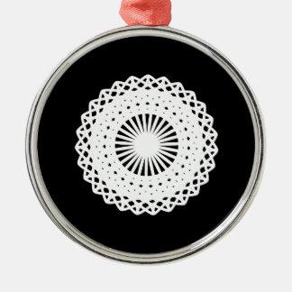 Doily. White lace circle image. Ornaments