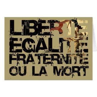 ¡Doin él la manera francesa! Tarjeta De Felicitación