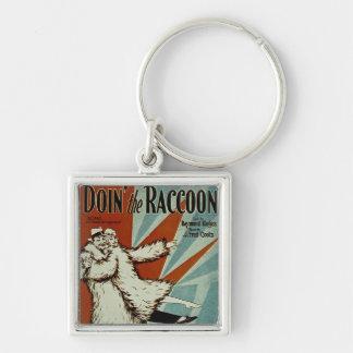 Doin' the Racoon Keychain