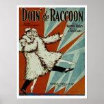Doin' the Racoon Print