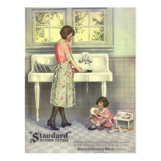 Doing Dishes Post Cards