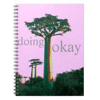 doing okay spiral notebook
