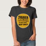 Doing Taxes Keep Away But Bring Coffee Funny Tee Shirt