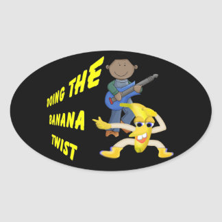 Doing the banana twist oval stickers