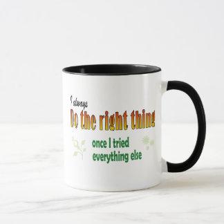 Doing the right thing mug