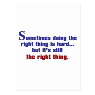 Doing the Right Thing Postcard