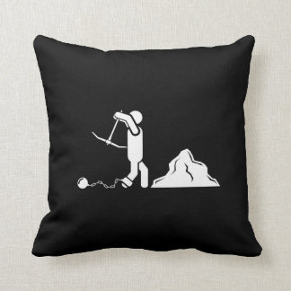 Doing Time Pictogram Throw Pillow