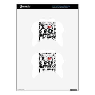 Doing What You Love Is Where Happiness Lives Xbox 360 Controller Decal