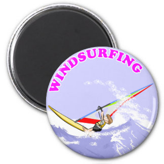 Doing windsurf in the waves magnet
