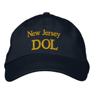 DOL, Jersey, New Embroidered Baseball Cap