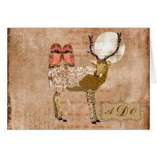 Dólar adornado y nota gitana rosada de oro del mon tarjetón