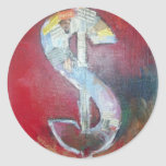 Dólar americano pegatina redonda