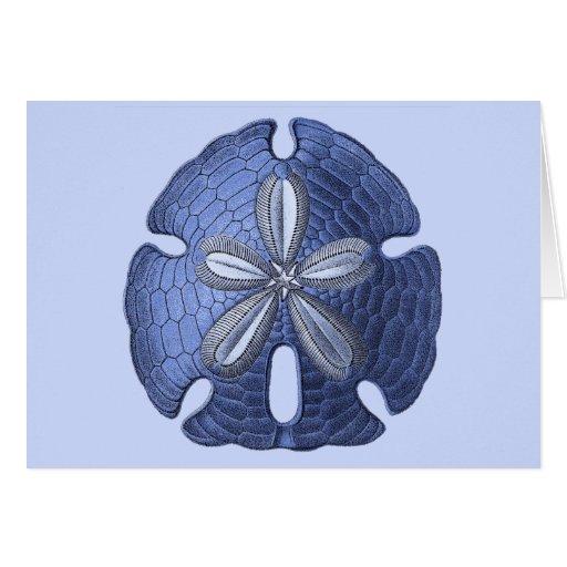 Dólar de arena azul tarjetón