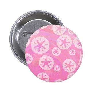 Dólar de arena blanco y rosado chapa redonda 5 cm