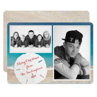 """Dólar de arena costero de la foto de familia del invitación 5"""" x 7"""""""
