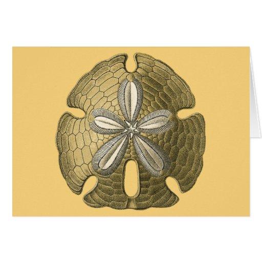 Dólar de arena del oro tarjeta de felicitación
