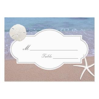 Dólar de arena del tema de la playa y asiento del tarjetas de visita grandes