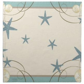 Dólar de arena moderno de las estrellas de mar de  servilletas de papel