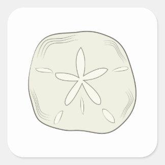 Dólar de arena pegatina cuadrada