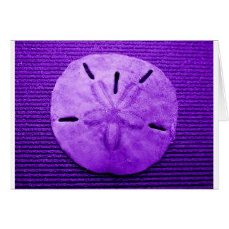 Dólar de arena púrpura oscuro tarjeta de felicitación
