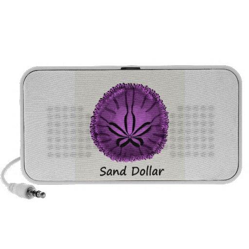 Dólar de arena púrpura vivo altavoces de viajar