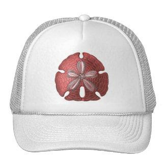 Dólar de arena rojo gorras de camionero