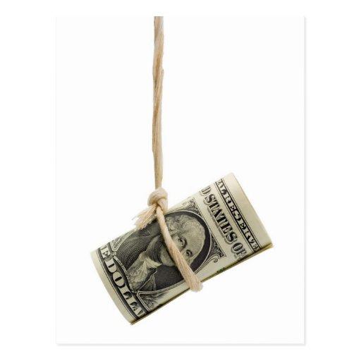 Dólar de EE. UU. que cuelga Postales