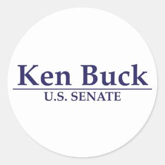 Dólar de Ken para el senado Pegatinas Redondas