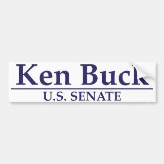Dólar de Ken para el senado Pegatina Para Auto