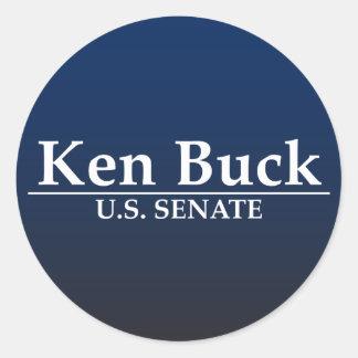 Dólar de Ken para el senado Pegatina Redonda