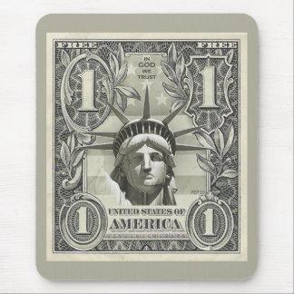 Dólar de la libertad tapetes de raton