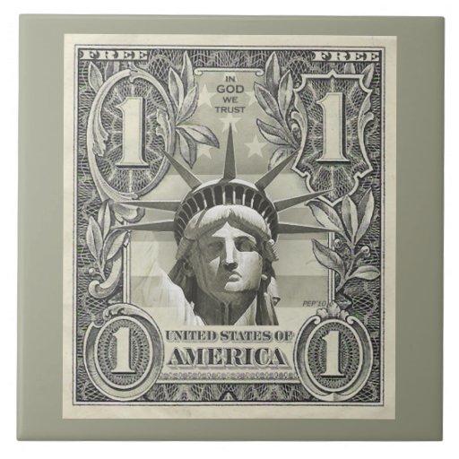 Dólar de la libertad teja cerámica