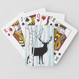 Dólar de los ciervos en naipes del bosque del