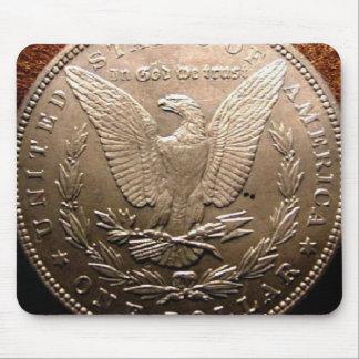 Dólar de plata de Morgan Tapete De Ratón