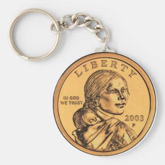 Dólar de Sacagawea Llavero Redondo Tipo Pin